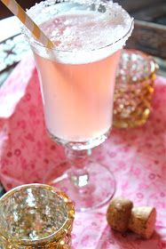 New Year's Eve Cocktail: Pink Lemonade Champagne from ValSoCal