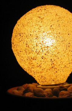 """How to Make a """"Sanded"""" Light Bulb by: Diy Maven on Curbly"""