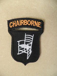 Chairborne patch, If you know then you know!