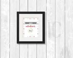 """Valentines Day Decor, Valentines Print, Printable Art, Gold Hearts, Print Wall Art, I Love You, Heart, Gallery Wall, """"Happy Valentines Day"""" by instantcreativity on Etsy"""