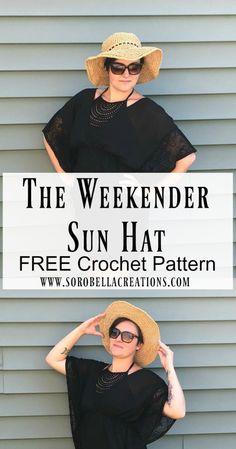 free crochet pattern sun hat