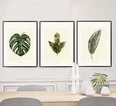 Herb print art/monstera print/watercolor prints/leaf wall art painting/botanical print/Set of herb Prints/palm tree croton painting wall art by BeautyOfPrints on Etsy