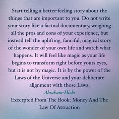 Change your Life with the Law of Attraction - Are You Finding It Difficult Trying To Master The Law Of Attraction?Take this 30 second test and identify exactly what is holding you back from effectively applying the Law of Attraction in your life. Quotes Thoughts, Life Quotes Love, Positive Thoughts, Positive Quotes, Mantra, Abraham Hicks Quotes, Law Of Attraction Quotes, Self Help, Namaste