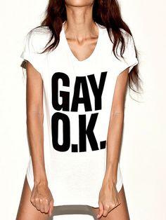 American Apparel....GAY O.K. T-Shirt!!!