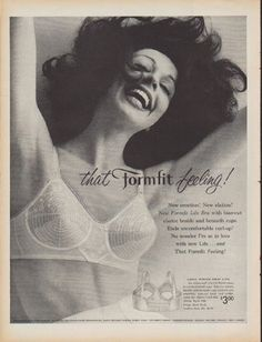 "Description: 1960 FORMFIT BRA vintage magazine advertisement ""that Formfit feeling"" -- that Formfit feeling! New creation! New elation! -- Size: The dimensions of the full-page advertisement are approximately 10.25 inches x 13.5 inches (26 cm x 34.25 cm). Condition: This original vintage full-page advertisement is in Excellent Condition unless otherwise noted."