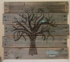 String Art Tree with Name and Birthday