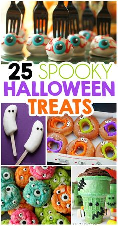 25 Spooktacular Halloween Treats For Kids 25 Spooktacular Halloween Treats For Kids - I Heart Arts n Halloween Desserts, Halloween Torte, Pasteles Halloween, Halloween Treats For Kids, Halloween Goodies, Halloween Birthday, Halloween Candy, Cute Halloween, Holidays Halloween