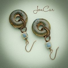 Enchantment Earrings - Truly enchanting, these earrings are attractive. ~porcelain beads~  $18.00