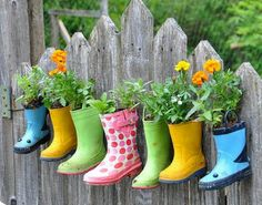 Gumboots Flower Pots | Impressive & Easy DIY Recycle Projects For Your Home