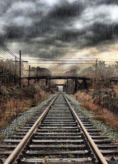 HDR Train tracks Albert St Bridge, Regina, Saskatchewan