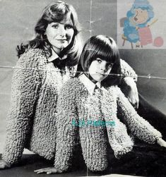 PDF Knitting Pattern for a Ladies & Child's Loop or Loopy Stitch Jacket Instant Download