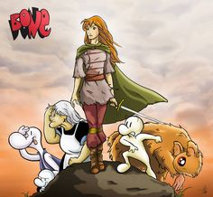 Bone by RiverCreek on DeviantArt Comic Books Art, Comic Art, Book Art, Bone Jeff Smith, Fone Bone, Bone Comic, To The Bone Movie, Bone Books, Comic Character