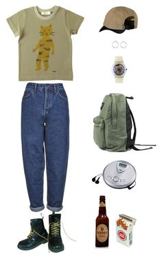 """""""No more"""" by origami-kitten ❤ liked on Polyvore featuring Dr. Martens, Boutique, Humör, Patagonia, Sony, Saskia Diez and American Apparel"""