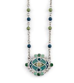 Stained Glass Necklace liasophia.com/jeanenichols