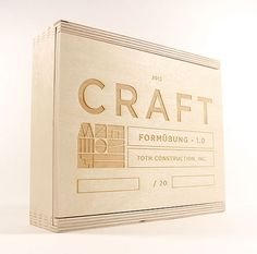 Invisible Creature designed this beautiful set of architectural nesting blocks for Toth Construction as a holiday gift for their clients. Label Design, Box Design, Print Design, Package Design, Wood Packaging, Brand Packaging, Invisible Creature, Branding, Layout