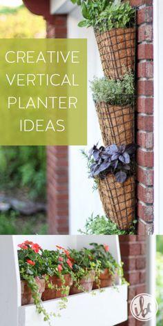 Creative Vertical Planter Ideas | unique plant garden ideas, herb garden, gardening for small spaces