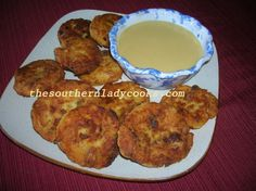 We love potato cakes. I always use leftover mashed potatoes to make these little cakes.  They are great as appetizers with Honey Mustard Sauce or Salsa, for breakfast or just anytime. 2 cups mashed…