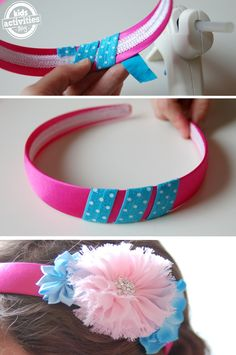 Mix and Match Headband system!  Change out the flowers every day...or every hour.