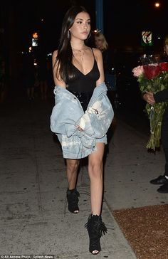 Bombshell look; Madison Beer, 18, certainly lived up to her stylish reputation as she rocked a strappy LBD for a night on the tiles at West Hollywood hotspot Delilah on Thursday