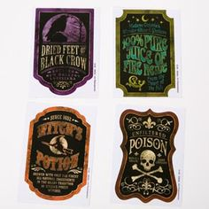 Vector Art : Orange and black Set of old fashioned Halloween beer labels Halloween Bottle Labels, Halloween Party Drinks, Halloween Treats, Halloween Fun, Smirnoff Bottle, Halloween Supplies, Party Supplies, Witch Potion, Food Picks