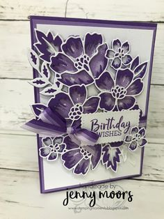Gift Card Boxes, Birthday Cards For Women, Stamping Up Cards, Blossom Flower, Flower Cards, Kids Cards, Homemade Cards, Cardmaking, Florals