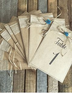 Rustic Table Numbers, Gift Wrapping, Tableware, Gifts, Gift Wrapping Paper, Dinnerware, Presents, Wrapping Gifts, Tablewares
