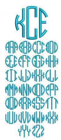 Circle Block Monogram Machine Embroidery Designs by JuJu