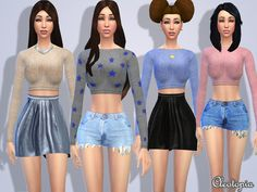 Casual Fashionista Set by Cleotopia at TSR via Sims 4 Updates