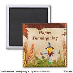 Fresh Harvest Thanksgiving Magnet