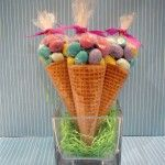 Easter cone favors.