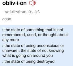 tfios- I fear oblivion