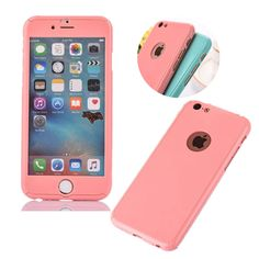 Front + Back Cover Candy Color PC Hard Skin 360 Protective Cover Phone Case for Apple iphone 6 6s Plus 4.7″ 5.5 inch BA9 | iPhone Covers Online