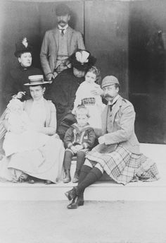 Queen Victoria with her children Arthur and Beatrice and their families