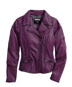 Harley-Davidson® Women's Black Label Purple Leather Biker Jacket by carlene Parka, Purple Leather Jacket, Harley Gear, Motorcycle Outfit, Motorcycle Clothes, Motorcycle Style, Biker Style, Harley Davidson Boots, Riding Jacket