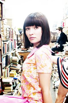 Emily Browning Looks a little bit like Anna Karina here