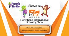Purple Turtle by Aadarsh Pvt. Ltd. will be showcasing at HKTDC Hong Kong International Licensing Show in Hong Kong Convention and Exhibition Center from 08 January 2018 to 10 January 2018. #HKTDC - Booth No. GH-B02 / Empire Multimedia. Visit us: http://bit.ly/2qLRw6p