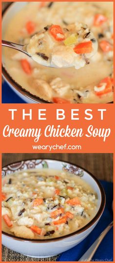 This easy Creamy Chicken Wild Rice Soup my be my best dinner recipe for fall! It's the whole family's favorite.