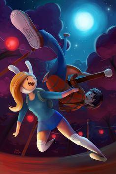 Fiona Adventure Time, Adventure Time Seasons, Marshall Lee Adventure Time, Adventure Time Girls, Adventure Time Anime, Fin And Jake, Cartoon Network Fanart, Adventure Time Wallpaper, Disney Fan Art