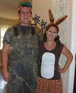 The Hunter and Deer DIY Couple Costume