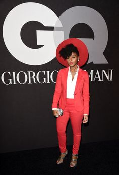 Pin for Later: The Stars Saved Their Loudest Looks For the Grammys Afterparties Janelle Monáe