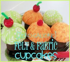 Felt Cupcakes {Guest Post from Tammy at She Wears Flowers} Tiered Serving Platters, Felt Crafts, Diy Crafts, A Level Textiles, Felt Cupcakes, Cupcake Tutorial, Cupcake Wars, Cupcake Display, Sewing Tutorials
