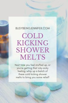 Next time you feel stuffed up or youre getting that icky-sicky feeling whip up a batch of these cold kicking shower melts to bring you some relief! They're easy to DIY with a few simple ingredients and essential oils! Shower Steamers, Decongestant, Body Spa, Glitter Nail Polish, Types Of Craft, Do It Yourself Crafts, Make A Gift, Health And Beauty Tips, Better Life