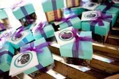 Favor Displays We Love Wedding Favors Photos on WeddingWire Purple And Green Wedding, Turquoise And Purple, Fall Wedding, Dream Wedding, Wedding Ideas, Wedding Fun, Wedding Stuff, Wedding Inspiration, Best Destination Wedding Locations