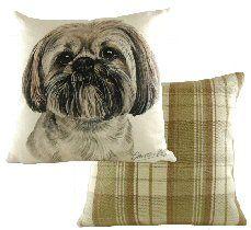 Lhasa Apso Boston Waggy Dogz Cushion Draught Excluders, Lhasa Apso, Boston, Cushions, Gifts, Ideas, Throw Pillows, Toss Pillows, Presents
