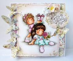 Jane's Lovely Cards : Magnolia-licious and Wee Stamps Challenge DT - Butterflies - stamps from magnoliastamps.us