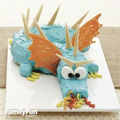 Candy-Breathing Beast Cake: This serpentine creature is surprisingly quick to assemble. The only thing faster? The speed at which young dragon slayers will devour him!
