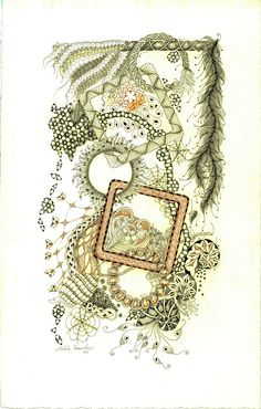 Shelly Beauch, Certified Zentangle Teacher: Through Here, Through There