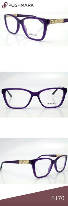 Versace Eyeglasses New and authentic  Versace Eyeglasses  Purple and gold frame  52mm Original case included Versace  Accessories Glasses