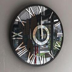 Plexiglass Mirror Wall Clock Extra Large Wall Clock Smoke | Etsy Wooden Gear Clock, Wooden Gears, Mirror Wall Clock, Wall Clocks, Gold Wall, Extra Large Wall Clock, Dessert Table Backdrop, Black Clocks, Mdf Wood