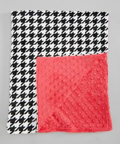 Take a look at this Watermelon & Houndstooth Minky Stroller Blanket by Lolly Gags on #zulily today!